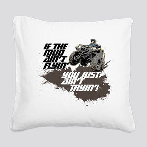 muddin atv Square Canvas Pillow